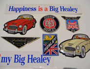 Austin Healey stickers